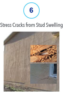6 Stress Cracks from Stud Swelling
